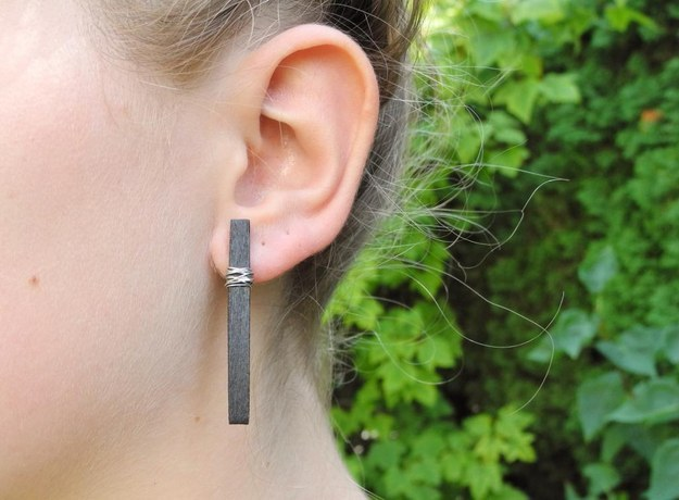 Cut up some minimalist earrings like these: