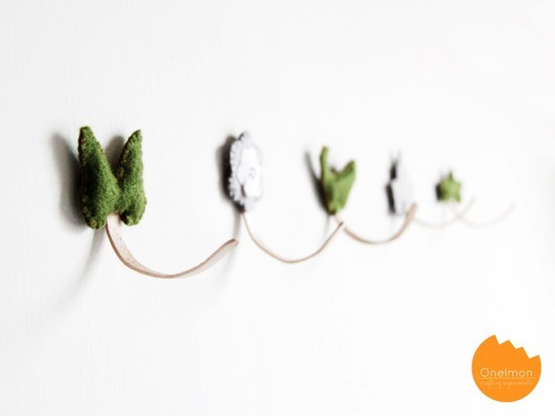 Or into dainty wall hooks: