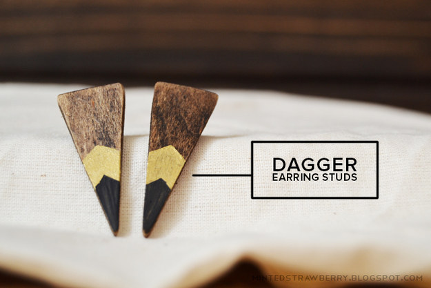 Or get a bit edgier with these pointed studs: