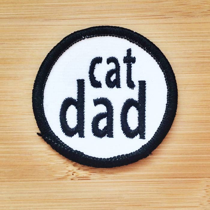 Iron-on Cat Dad patch here.