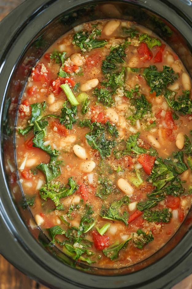 Tomato, Kale, and Quinoa Soup