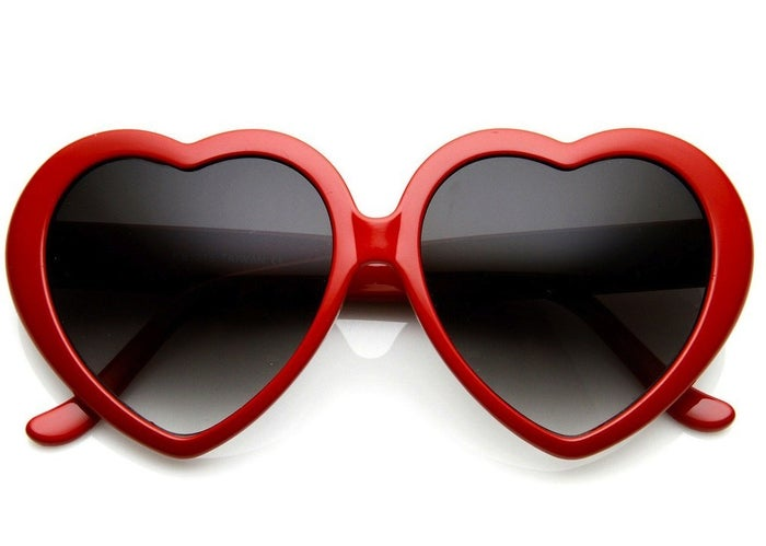 If T. Swift has taught us anything its that being young and single can be hella fun. She has also taught us that nothing is as adorable and assistive in making you feel better than dancing around in a pair of heart-shaped sunglasses. Maybe you should get these and spend your solo VDay writing songs about your exes. Name names.