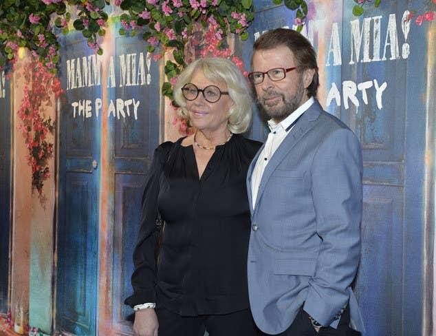Bjorn Ulvaeus and partner Lena Kallersjo, who he married after his divorce with former bandmate Agnetha Fältskog.