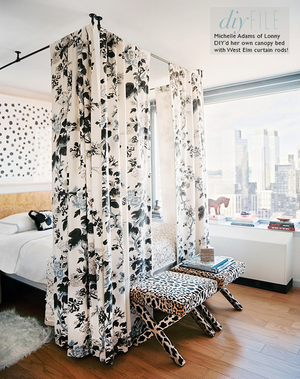 For some privacy and extra shade solid curtains are a perfect solution. & 14 DIY Canopies You Need To Make For Your Bedroom