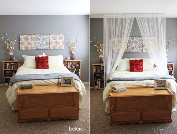 You can even hang a canopy just using thumbtacks. & 14 DIY Canopies You Need To Make For Your Bedroom