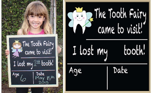 Commemorate each lost tooth with this chalkboard.