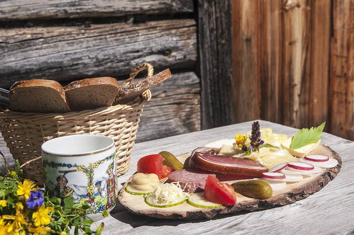 "Germans tend to eat their main meal around 1pm, so Abendbrot – or ""evening bread"" – is a nice, light, family supper with lots of ham and cheese. Add in fresh bread, light beers, and no cooking involved whatsoever – it's enough to make you feel you're doing dinner very wrong."