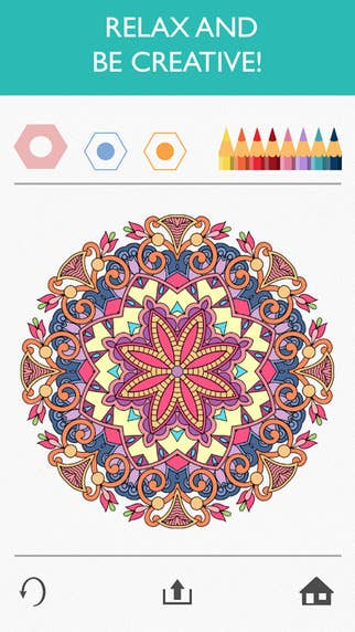 Its An Amazing Adult Coloring Book App With Hundreds Of Colors And Designs