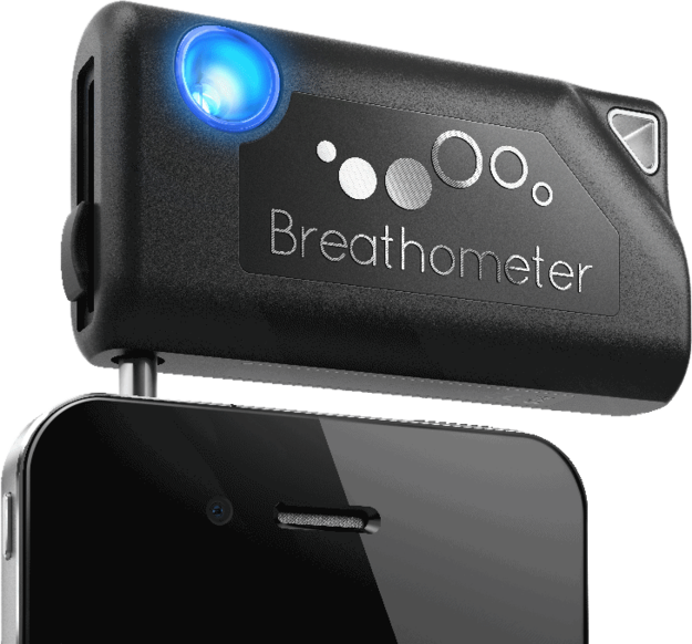 El Breathometer original ($49,99) para medir tu nivel de alcohol en la sangre.