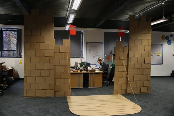 view this image cardboard office