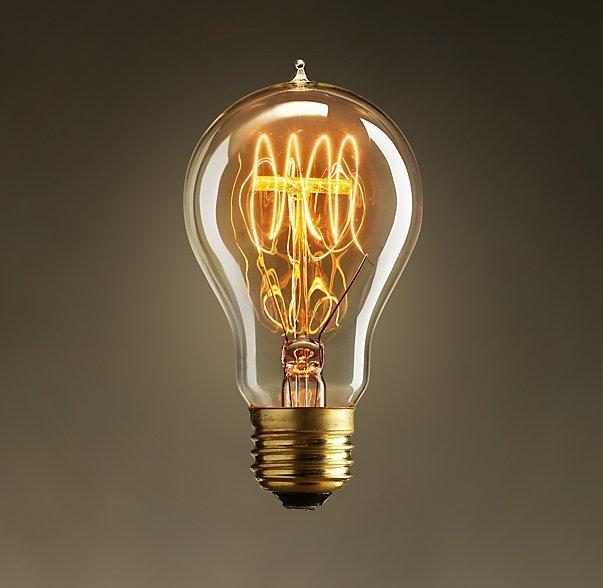 an Edison bulb