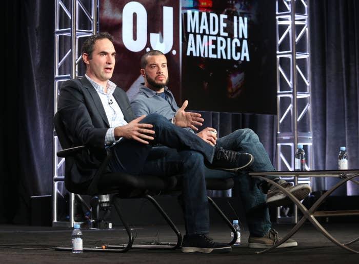 O.J.: Made in America executive producer Connor Schell and director Ezra Edelman.