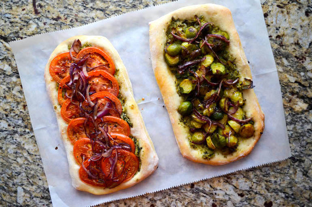 Tuesday: Loaded Veggie Pesto Pizza