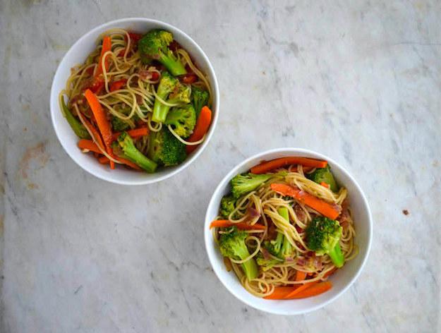 Friday: Vegetarian Noodle Stir-Fry