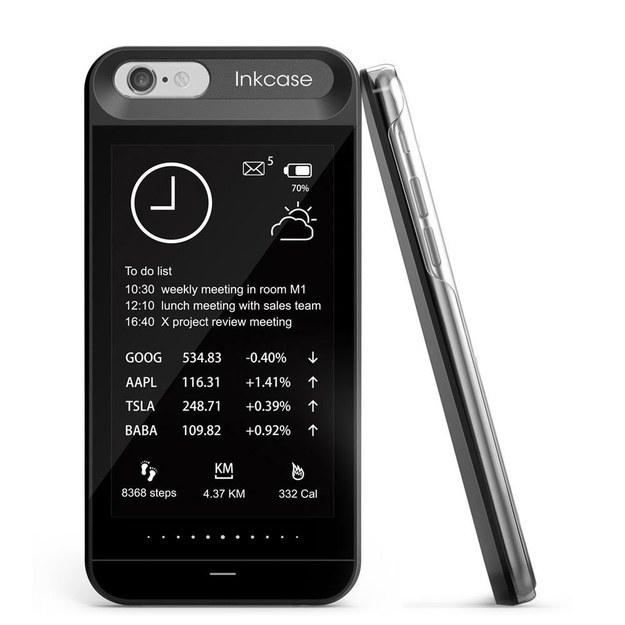 El InkCase ($130) que muestra tus notificaciones para ahorrar batería.