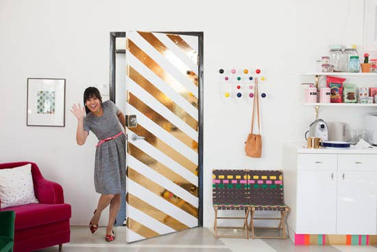 contact paper for furniture. stick contact paper on your door to create an entirely new experience for furniture o