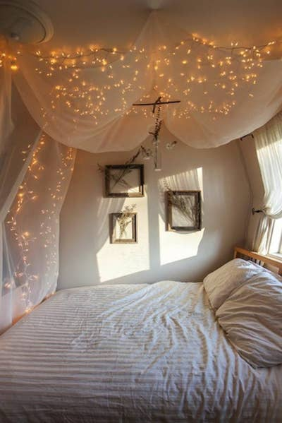 7 Add Some String Lights To Create An Extra Whimsical Effect