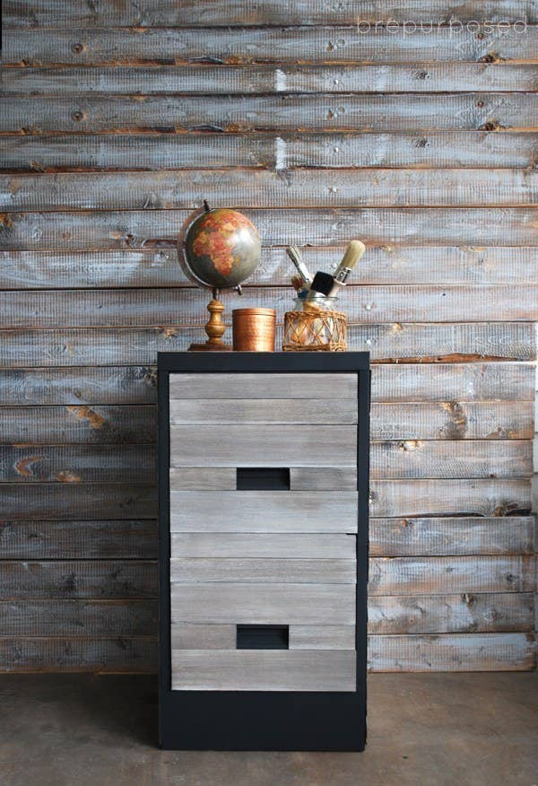 Contact Paper On Furniture Intended Give Facelift To Your File Cabinet With Some Textured Contact Paper 23 Super Cute Contact Paper Diys To Transform Your Home