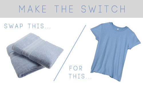 Got curly, frizz-prone hair? Tees work better for towels, promise.