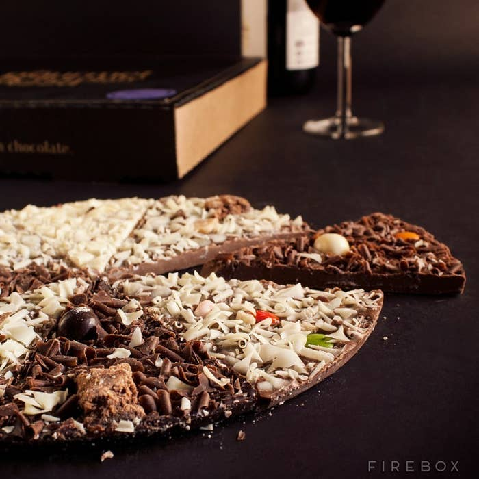 This is ACTUAL CHOCOLATE PIZZA. Share a slice here.