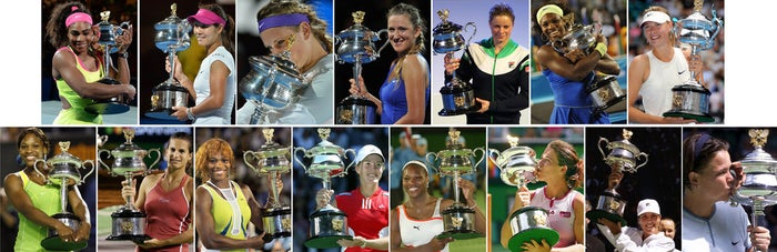 EDITOR'S NOTE: This post was published prior to the 2016 Australian Open women's final.Since the beginning of the Open era, 22 players have claimed the Australian Open women's singles title. These women have not just shown us their incredible skill, but also brought their A-game in fashion.