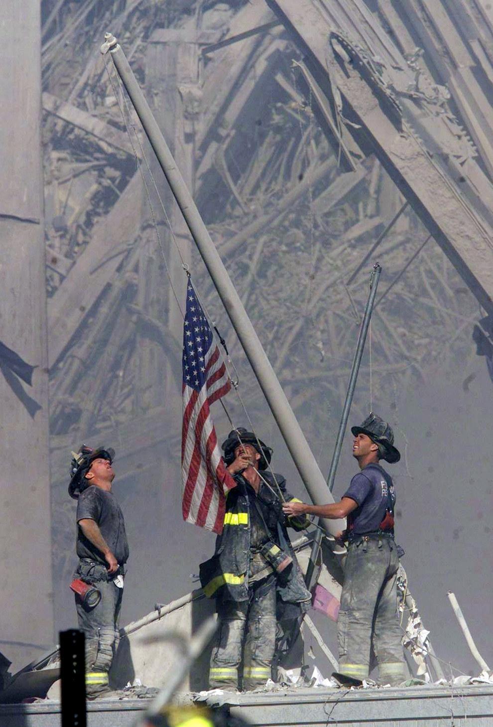 Este signo de patriotismo y perseverancia frente al terrorismo el 11 de septiembre del 2001.