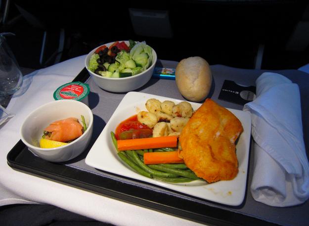 Dinner in first class:
