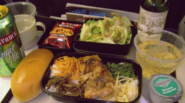 Dinner in economy class: