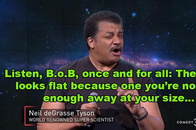 Neil DeGrasse Tyson Hilariously Shut Down B.o.B's Argument ...