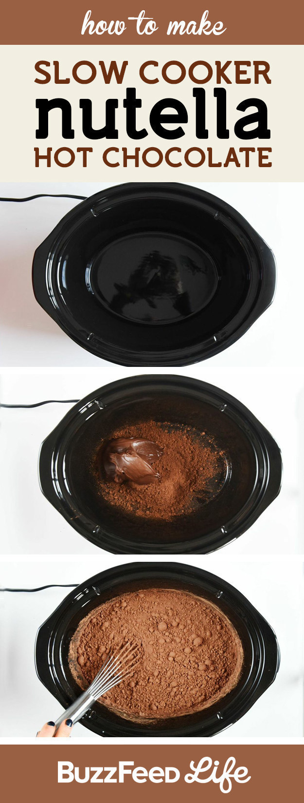Or make a big batch of hot chocolate and spike it with NUTELLA. Serving size: one.