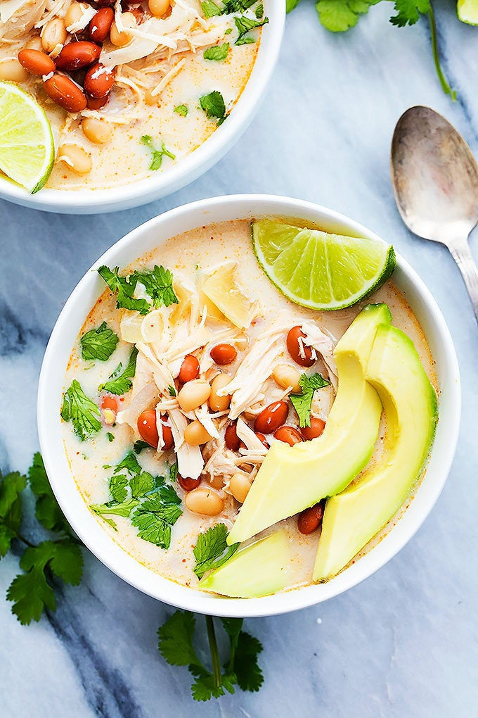 Get the recipe for slow cooker cream cheese chicken chili here.