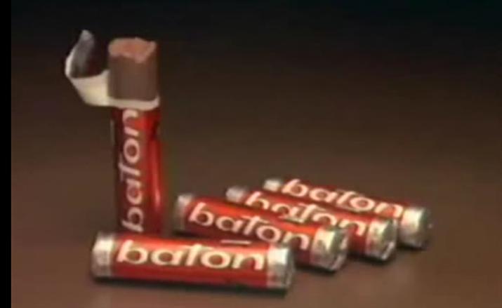 Chocolate em geral era o desejo de 10 entre 10 crianças na hora do recreio, mas o Baton se destacava graças a sua hipnótica propaganda.