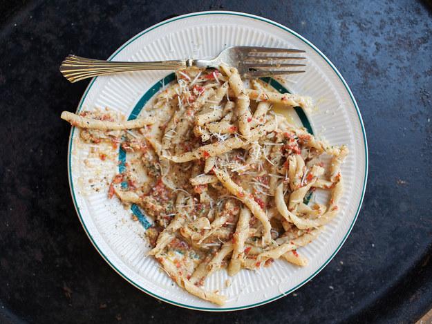 Busiate with Sicilian Tomato Pesto