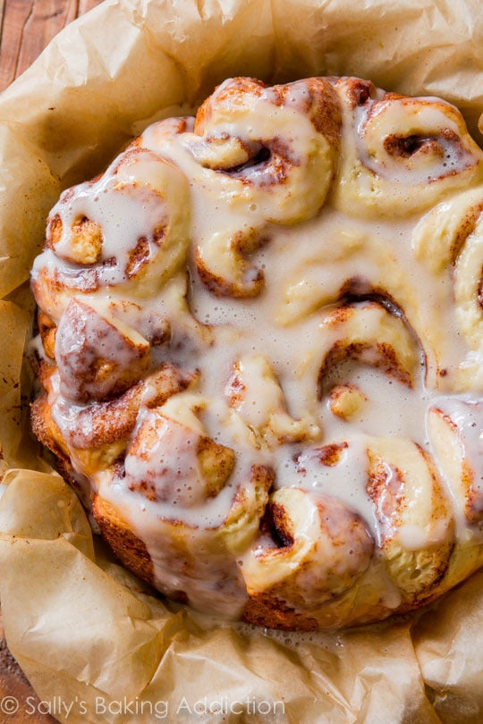 Get the recipe for easy slow cooker cinnamon rolls here.