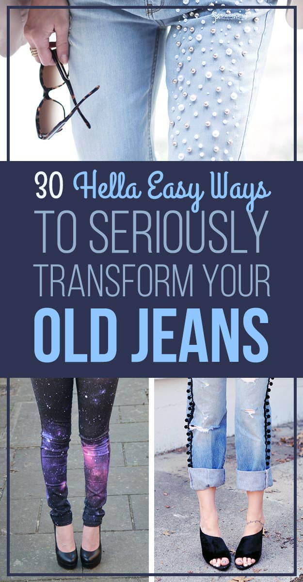 b34e0ffa4433 30 Hella Easy Ways To Seriously Transform Your Old Jeans