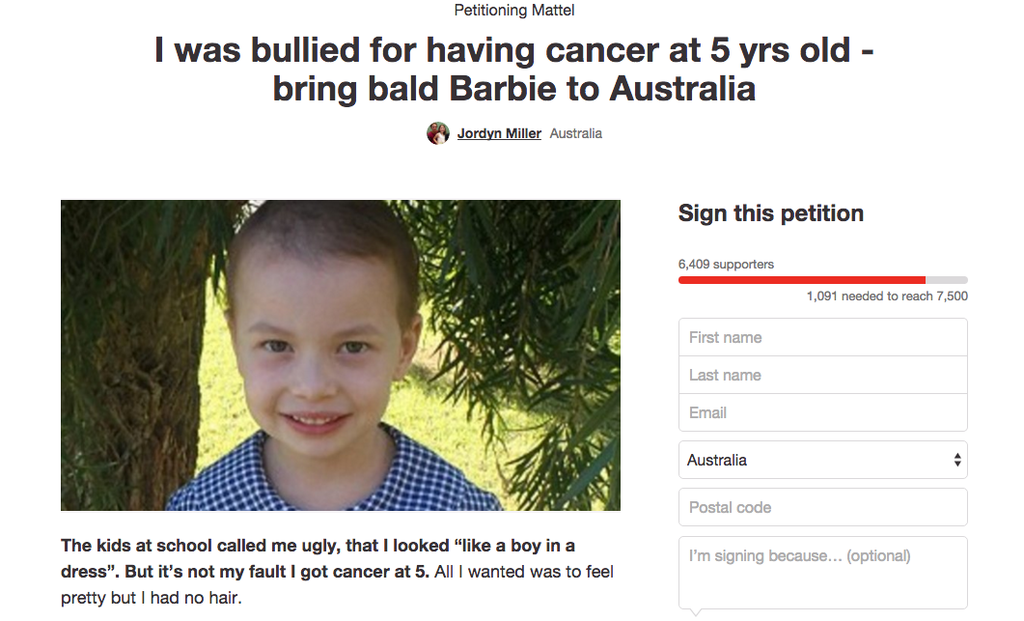 This Little Girl Wants To Make A Bald Barbie To Help Kids With Cancer