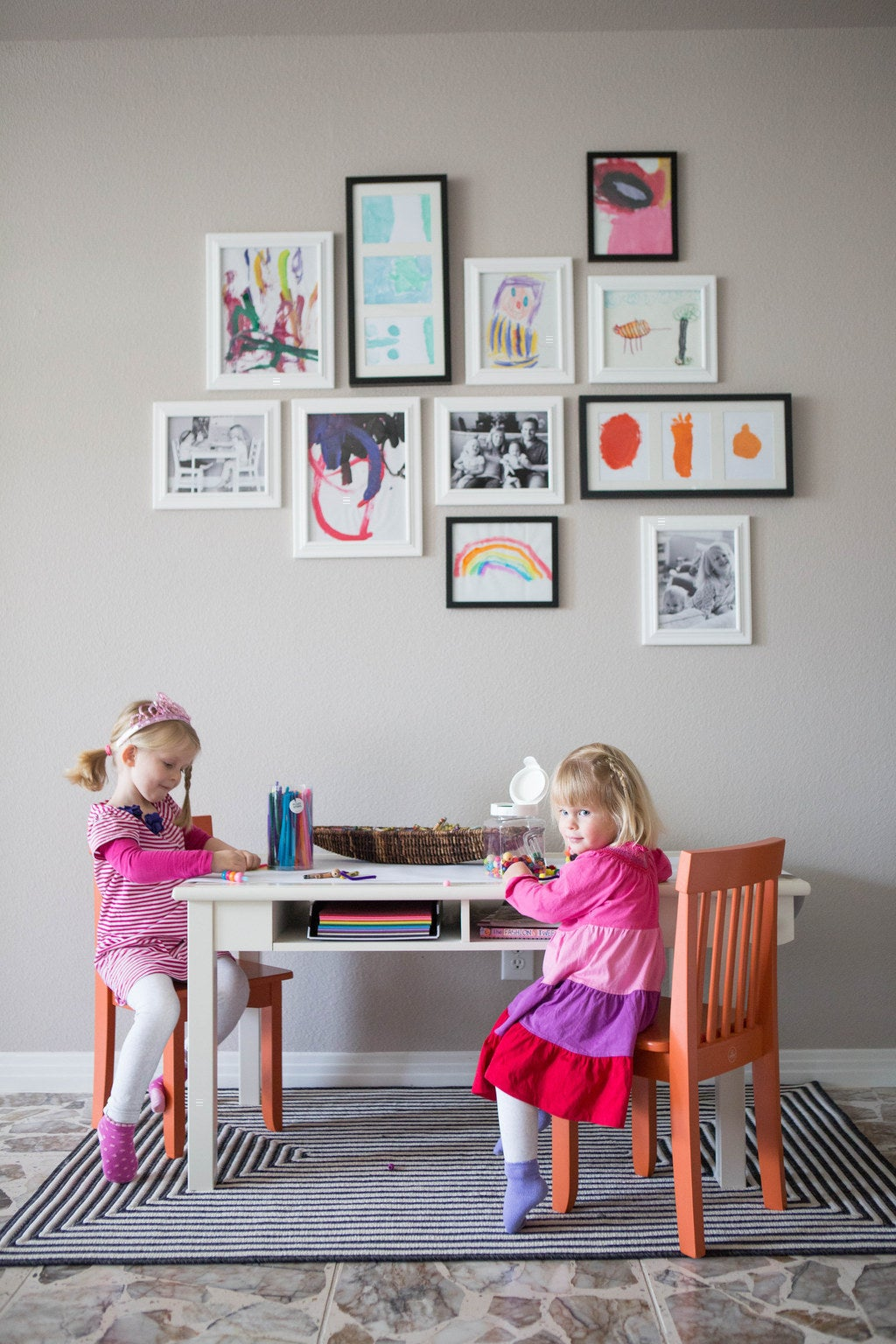 28 Charming Ways To Use Your Kids 39 Art As Decor