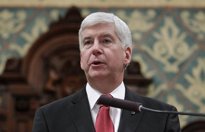 Michigan Gov. Rick Snyder delivers his State of the State on Jan. 19.
