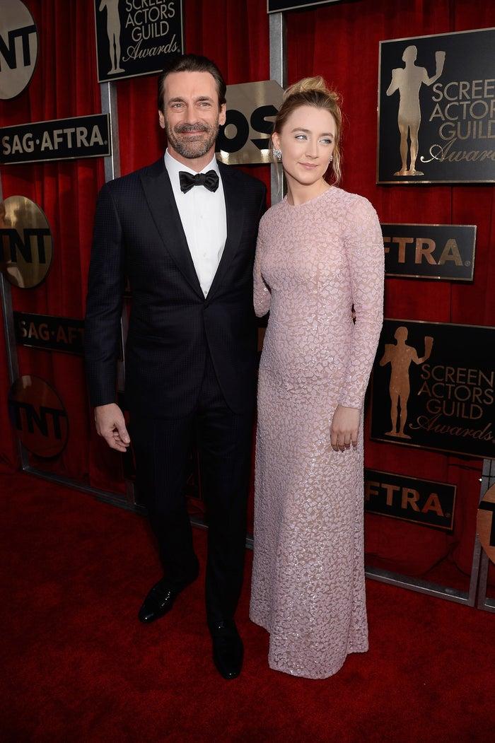 Jon Hamm and Saoirse Ronan