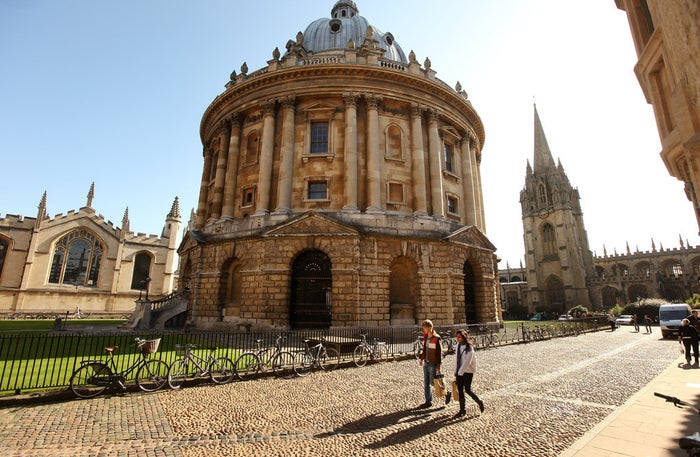 The Radcliffe Camera building at Oxford University.
