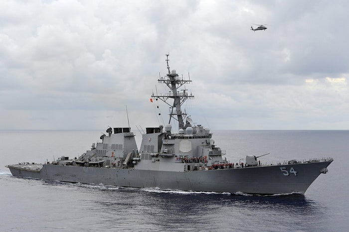 File photo of the U.S. Navy guided-missile destroyer USS Curtis Wilbur.