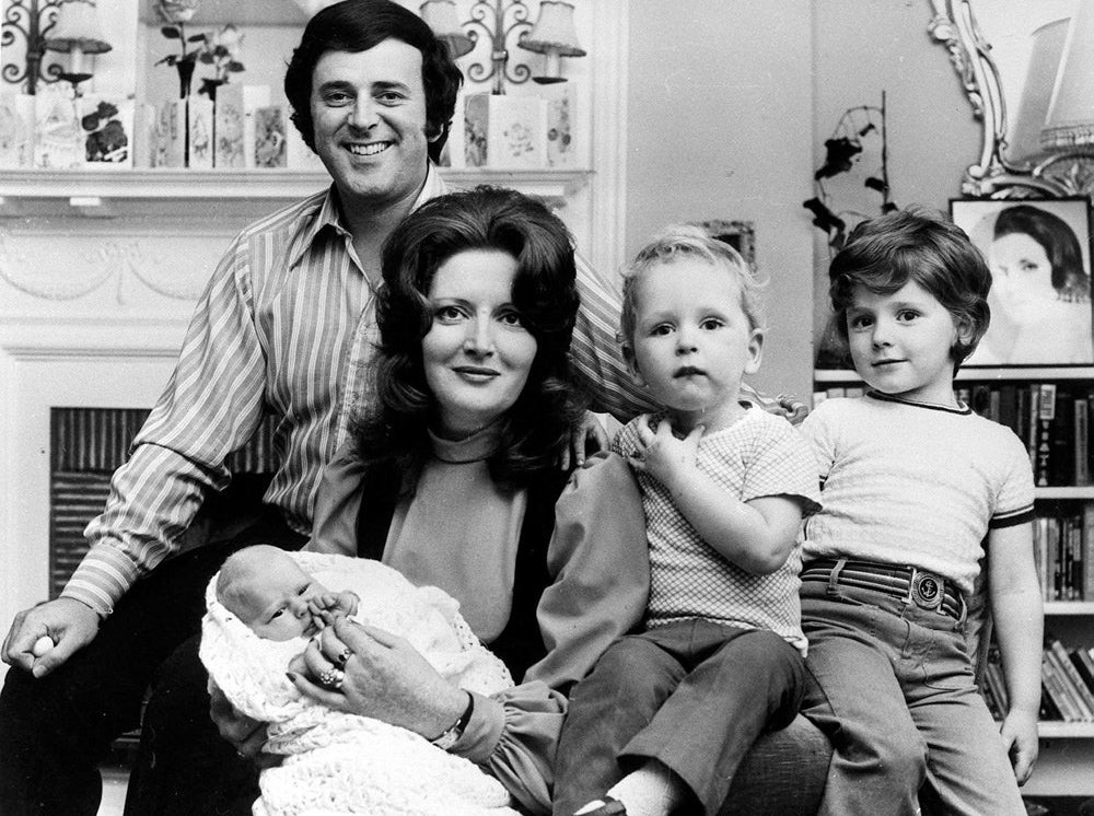 Sir Terry Wogan and his wife Helen with their baby daughter Katherine at three weeks old, and their sons Alan, 5 (right), and Mark, 2 in 1972.