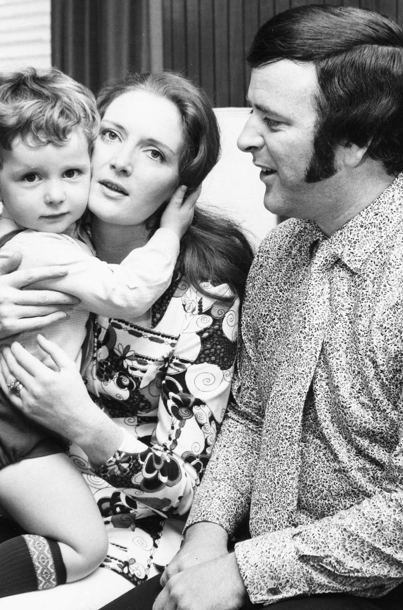 Terry Wogan with his wife Helen and baby son Alan
