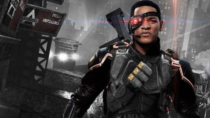 Deadshot is played by the great, Will Smith. He is a known assassin and the best of his kind. He works hard to protect his ex-wife and child. His superpowers include having combat skill and being skilled with machinery. His real name is Floyd Lawton.
