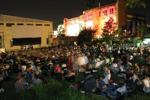 """On the lawns of New Farm Park beside the Brisbane Powerhouse Museum, this Moonlight Cinema screens new release flicks and classics on alternate sessions. Go for a """"glam grass"""" ticket, which for $30 seats you on a bean bed in an ~exclusive~ area. Or you could just sprawl on a that old picnic blanket that lives in the boot of your car. The Moonlight Cinema Brisbane runs until March."""