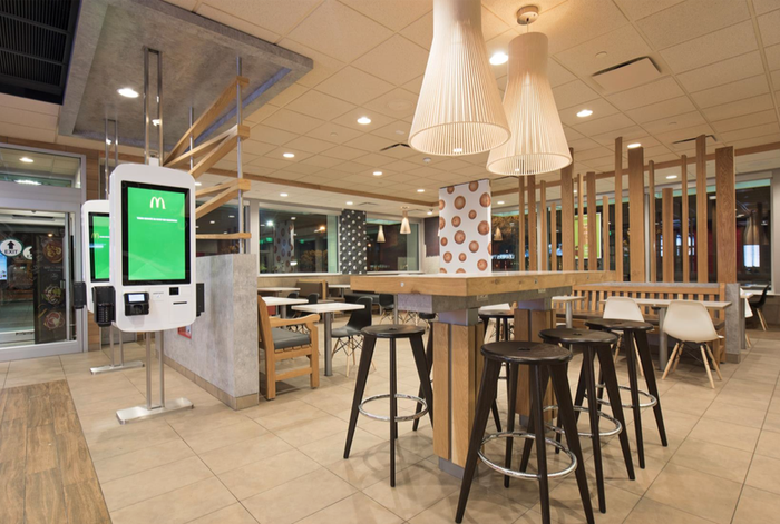 "McDonald's new ""Wood and Stone"" design."