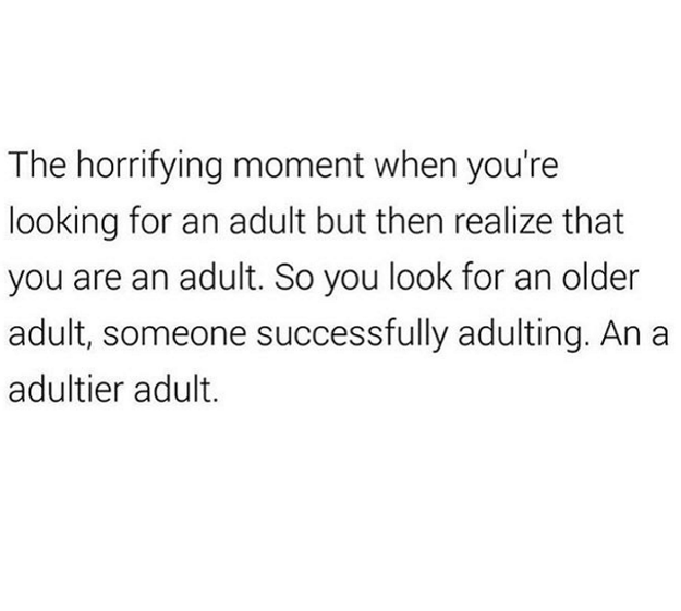 Becoming an adult is all about learning from your elders: