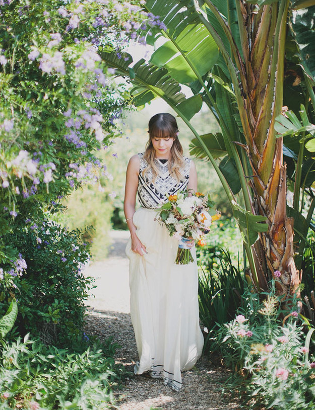 This black-and-white boho nod: