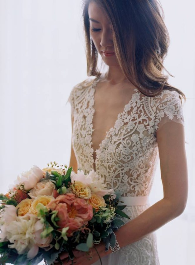 This delicate bodice: