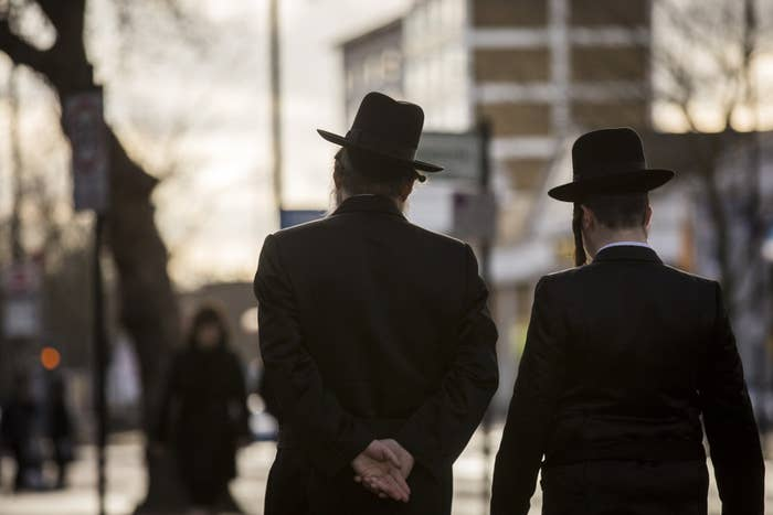 Jewish men in the Stamford Hill area in January last year.